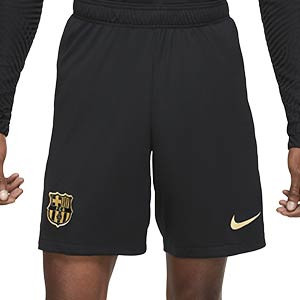 Short Nike 2a Barcelona 2020 2021 Stadium - Pantalón corto segunda equipación Nike FC Barcelona 2020 2021 - negro - frontal
