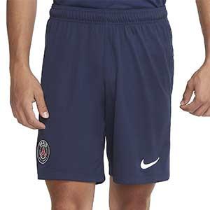 Short Nike PSG 2020 2021 Stadium - Pantalón corto primera equipación Nike Paris Saint-Germain 2020 2021 - azul marino - frontal