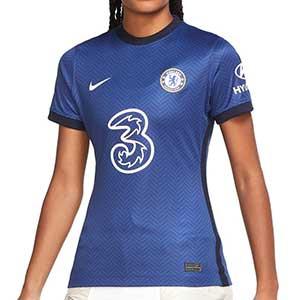 Camiseta Nike Chelsea mujer 2020 2021 Stadium - Camiseta de mujer de la primera equipación del Chelsea 2020 2021 - azul - frontal