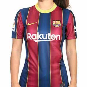 Camiseta Nike Barcelona Stadium mujer 2020 2021 - Camiseta mujer Nike primera equipación FC Barcelona 2020 2021 - azulgrana - frontal