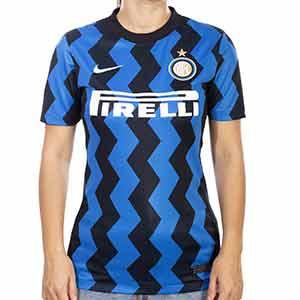 Camiseta Nike Inter 2020 2021 mujer Stadium - Camiseta mujer Nike primera equipación Inter de Milán 2020 2021 - negra y azul - miniatura