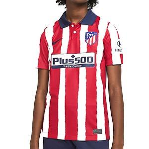 Camiseta Nike Atlético niño Stadium 2020 2021 - Camiseta infantil Nike primera equipación Atlético de Madrid 2020 2021 - roja y blanca - frontal