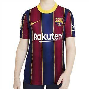 Camiseta Nike Barcelona niño Stadium 2020 2021 - Camiseta infantil Nike primera equipación FC Barcelona 2020 2021 - azulgrana - frontal