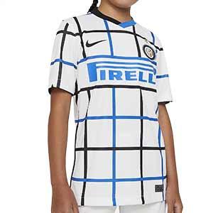 Camiseta Nike 2a Inter niño 2020 2021 Stadium - Camiseta infantil segunda equipación Nike Inter de Milán 2020 2021 - blanca - frontal