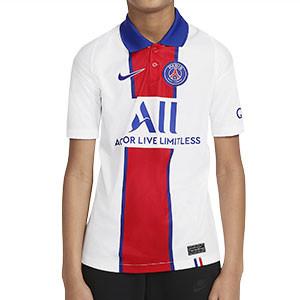 Camiseta Nike 2a PSG niño 2020 2021 Stadium - Camiseta segunda equipación infantil Nike Paris Saint-Germain 2020 2021 - blanca - frontal