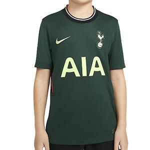 Camiseta Nike 2a Tottenham niño 2020 2021 Stadium - Camiseta infantil segunda equipación Nike Tottenham 2020 2021 - verde oscuro - frontal