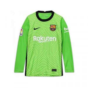 Camiseta Nike Barcelona niño portero 2020 2021 - Camiseta infantil de portero Nike del FC Barcelona 2020 2021 - verde - frontal