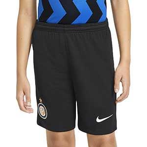 Short Nike Inter niño 2020 2021 Stadium - Pantalón corto infantil Nike primera equipación Inter de Milán 2020 2021 - negro - frontal