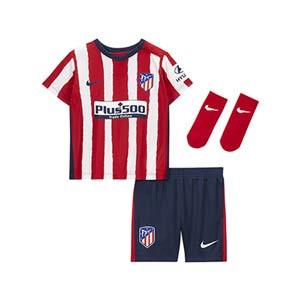 Equipación Nike Atlético bebé 3 - 36 meses 20 2021 - Kit bebé 0-36 meses primera equipación Nike Atlético de Madrid 2020 2021 - roja y blanca - miniatura