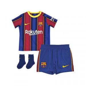 Equipación Nike Barcelona bebé 3 - 36 meses 20 2021 - Kit bebé 0-36 meses primera equipación Nike FC Barcelona 2020 2021 - azulgrana - frontal