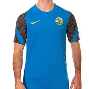 Camiseta Nike Inter entreno 2020 2021 Strike - Camiseta de entrenamiento Nike del Inter de Milán 2020 2021- azul - frontal