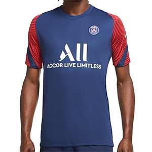 Camiseta Nike PSG entreno 2020 2021 Strike - Camiseta de entrenamiento Nike del París Saint-Germain 2020 2021 - azul marino - frontal