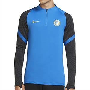 Sudadera Nike Inter entreno 2020 2021 Strike - Sudadera de entrenamiento Nike del Inter de Milán 2020 2021 - azul - frontal