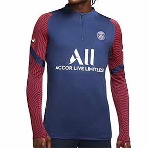 Sudadera Nike PSG entreno 2020 2021 Strike - Sudadera entrenamiento Nike Paris Saint-Germain 2020 2021 - azul marino - frontal