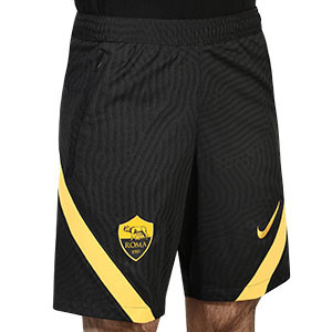 Short Nike AS Roma entreno 2020 2021 Strike - Pantalón corto entrenamiento Nike AS Roma 2020 2021 - negro - frontal