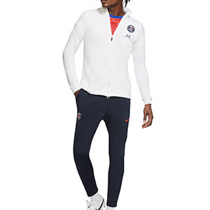 Chándal Nike PSG entreno 2020 2021 Strike - Chándal Nike del Paris Saint-Germain 2020 2021 - azul marino y blanco - miniatura