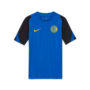 Camiseta Nike Inter niño entreno 2020 2021 Strike - Camiseta de entrenamiento infantil Nike del Inter de Milán 2020 2021- azul - miniatura