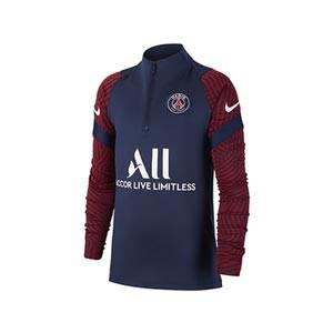 Sudadera Nike PSG niño entreno 2020 2021 Strike - Sudadera infantil de entrenamiento Nike del Paris Saint-Germain 2020 2021 - azul marino - frontal