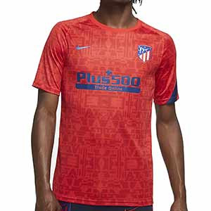 Camiseta Nike Atlético pre-match 2020 2021 - Camiseta pre partido Nike Atlético de Madrid 2020 2021 - roja - frontal