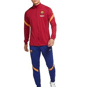 Chándal Nike Barcelona Strike 2020 2021 - Chándal Nike del FC Barcelona 2020 2021 - granate y azul - miniatura