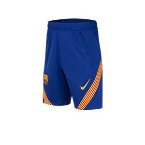 Short Nike Barcelona niño entreno 2020 2021 Strike - Pantalón corto de entrenamiento infantil Nike del FC Barcelona 2020 2021 - azul - miniatura