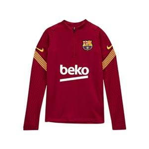 Sudadera Nike Barcelona niño entreno 2020 2021 Strike - Sudadera de entrenamiento infantil del FC Barcelona 2020 2021 - roja - miniatura