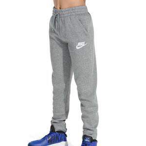 Pantalón Nike Sportswear Club Fleece Jogger niño - Pantalón largo de algodón infantil Nike - gris - frontal