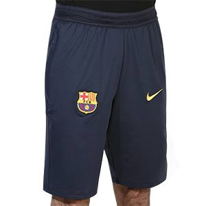 Short Nike Barcelona Travel - Pantalón corto de paseo Nike del FC Barcelona 2020 2021 - azul marino - frontal