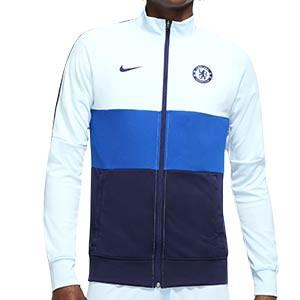 Chaqueta Nike Chelsea I96 himno 2020 2021 - Chaqueta chándal himno Nike Chelsea FC 2020 2021 - azul - frontal