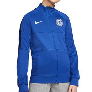 Chaqueta Nike Chelsea niño I96 himno 2020 2021 - Chaqueta chándal himno infantil Nike Chelsea FC 2020 2021 - azul - frontal