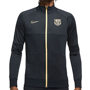 Chaqueta Nike Barcelona I96 himno 2020 2021 - Chaqueta chándal himno Nike FC Barcelona 2020 2021 - negra