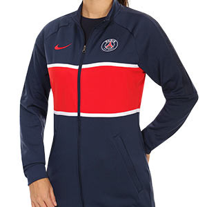 Chaqueta Nike PSG mujer I96 himno 2020 2021 - Chaqueta chándal del himno de mujer Nike Paris Saint-Germain 2020 2021 - azul marino - frontal