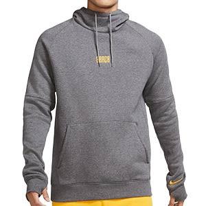 Sudadera Nike Barcelona Fleece Hoody - Sudadera con capucha de algodón Nike del FC Barcelona - gris - frontal