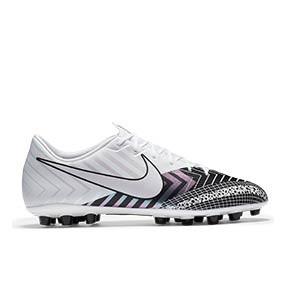 Nike Mercurial Vapor 13 Academy MDS AG - Botas de fútbol Nike AG para césped artificial - blancas y negras - pie derecho