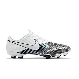 Nike Mercurial Vapor 13 Academy MDS FG/MG - Botas de fútbol Nike FG/MG para césped artificial - blancas y negras - pie derecho