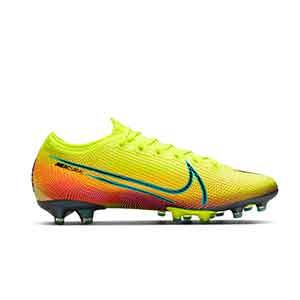 Nike Mercurial Vapor 13 Elite MDS 2 AG-PRO - Botas de fútbol Nike AG-PRO para césped artificial - amarillas y verdes - derecho