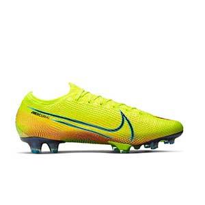 Nike Mercurial Vapor 13 Elite MDS 2 FG - Botas de fútbol Nike FG para césped natural o artificial de última generación - amarillas y verdes - derecho