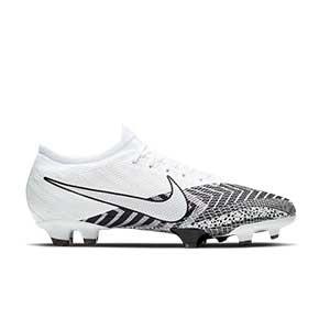 Nike Mercurial Vapor 13 Pro MDS FG - Botas de fútbol Nike FG para césped natural o artificial de última generación - blancas y negras - pie derecho