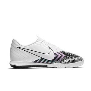 Nike Mercurial Vapor 13 Academy MDS IC - Zapatillas fútbol sala Nike suela lisa IC - blancas y negras - pie derecho