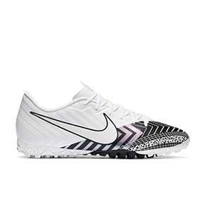 Nike Mercurial Vapor 13 Academy MDS TF - Zapatillas de fútbol multitaco Nike suela turf - blancas y negras - pie derecho