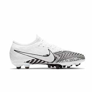 Nike Mercurial Vapor 13 Pro MDS AG-PRO - Botas de fútbol Nike AG-PRO para césped artificial - blancas y negras - pie derecho