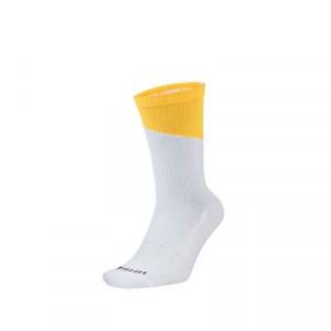Calcetines Nike Squad - Calcetines media caña para entrenamiento fútbol Nike - blancos y amarillos - frontal