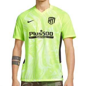 Camiseta Nike 3a Atlético 2020 2021 Stadium - Camiseta tercera equipación Nike Atlético de Madrid 2020 2021 - verde flúor - frontal