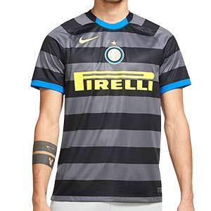 Camiseta Nike 3a Inter 2020 2021 Stadium - Camiseta tercera equipación Nike Inter de Milan 2020 2021 - gris y negro - frontal