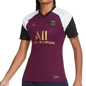 Camiseta Nike x Jordan 3a PSG mujer 2020 2021 Stadium - Camiseta de mujer tercera equipación Nike Paris Saint-Germain 2020 2021 - granate - frontal