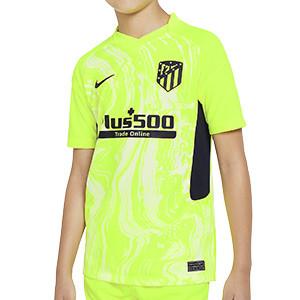 Camiseta Nike 3a Atlético niño 2020 2021 Stadium - Camiseta infantil tercera equipación Nike Atlético de Madrid 2020 2021 - verde flúor - frontal