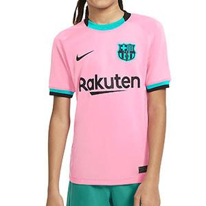 Camiseta Nike 3a Barcelona niño 2020 2021 Stadium - Camiseta infantil tercera equipación Nike FC Barcelona 2020 2021 - rosa - frontal