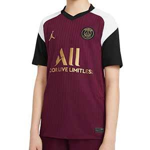 Camiseta Nike x Jordan 3a PSG niño 2020 2021 Stadium - Camiseta infantil tercera equipación Nike Paris Saint-Germain 2020 2021 - granate - frontal