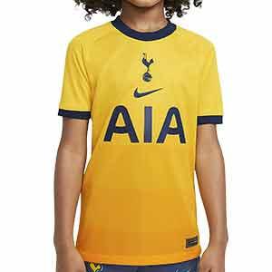 Camiseta Nike 3a Tottenham niño 2020 2021 Stadium - Camiseta infantil tercera equipación Nike Tottenham 2020 2021 - amarilla - frontal