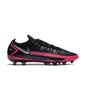 Nike Phantom GT Elite AG-PRO - Botas de fútbol Nike AG-PRO para césped artificial - negras y rosas - pie derecho